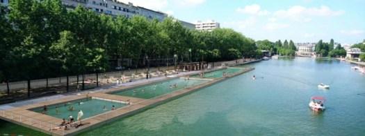 Projet de zone de baignade bassin de La Villette