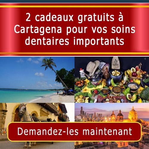 Cadeaux gratuits à Cartagena