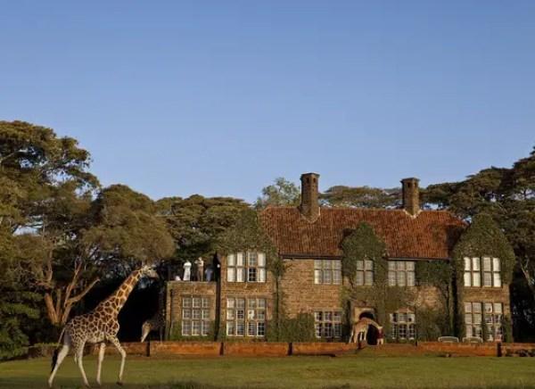 Giraffe Manor in Nairobi Kenya
