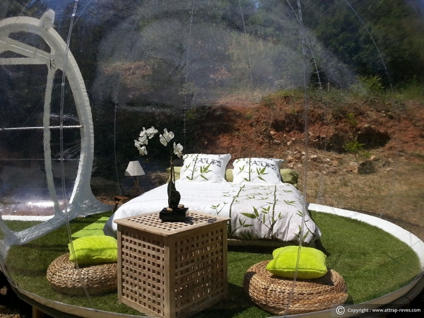Tourism on the Edge, bubble hotel in france