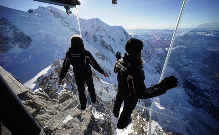 step-into-the-void, Chamonix