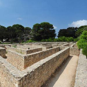 Particolare del labirinto del Castello di Donnafugata a Ragusa