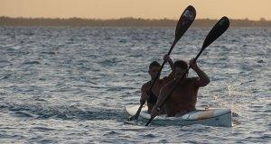 Couple paddling on Shongweni dam, South Africa