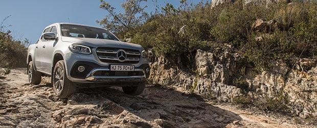 Mercedes-Benz X-Class on a wagon trail