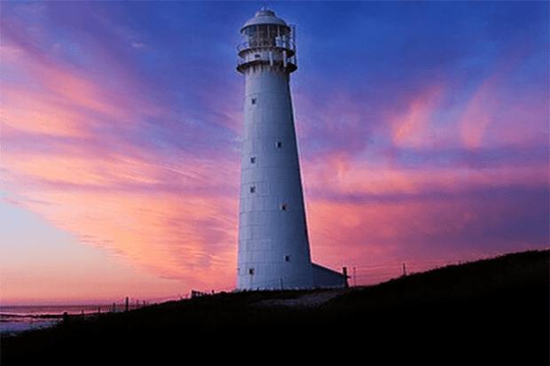 Slangkoppunt Lighthouse at sunset