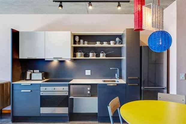 Newmark Hotels Stock Exchange kitchen