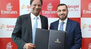Emirates and SpiceJet Memorandum handover