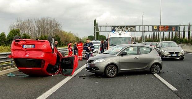 Vehicle accident scene