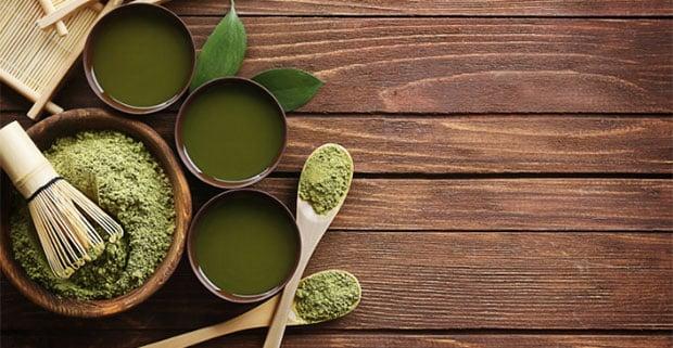 Green Powder in bowls