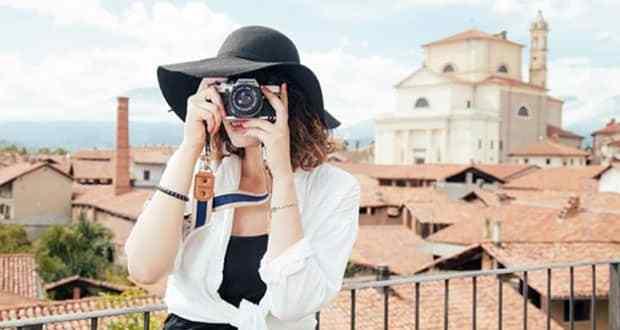 A tourist taking a photo