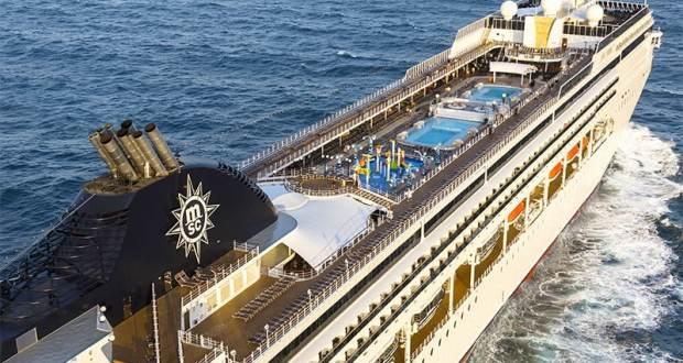 MSC Opera cruise liner at sea