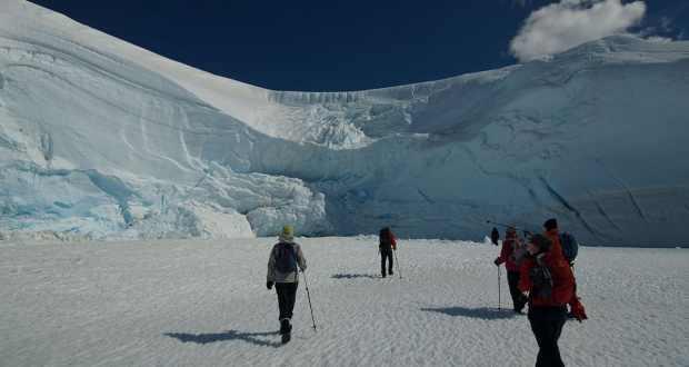 People walking on ice