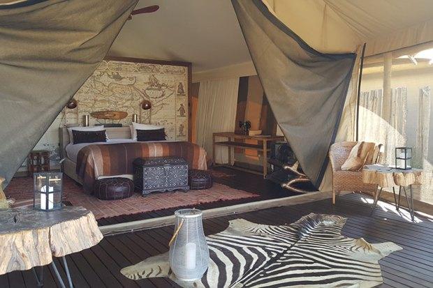 Luxury tent at Kuganha Camp Inverdoorn Game Reserve