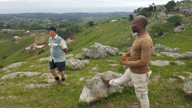 Tour guides Louis Boshoff and Victor Jaca at KwaNzimakwe Multi-Trails