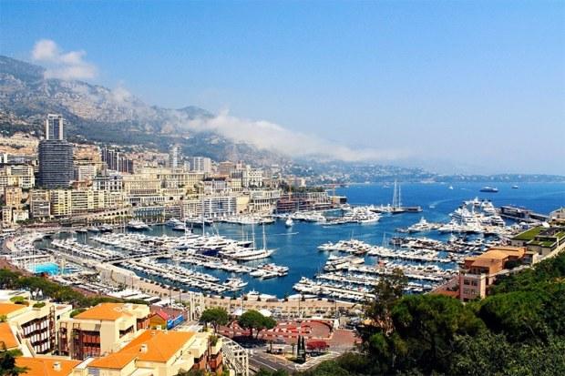 View over Monaco yacht basin