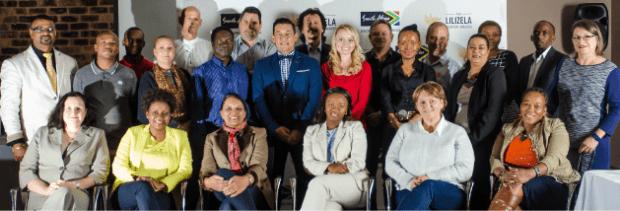 A few of the 2015 Lilizela Award Judges.  Standing (left to right): Jaya Naidoo - Durban University of Technology, Nesang Maleka & Ntokozo Luvuno - both from SA Youth in Travel, Tourism & Hospitality, Yolande Le Roux - T-Cup, Des Langkilde - Tourism Tattler, Alex Adjei - Responsible Tourism Trainer, Barry Clemens - Selborne Hotel, Golf Estate & Spa, Jonathan Jacobs - Cape Chamber of Commerce, Ernest Bergins - SANParks Addo Region, Kiera Schoeman - Urban-Econ Development Economists, Johannes Hatting - Central University of Technology: Free State, Rebecca Kambule - Hampshire Hotel, Jonker Fourie - Emfuleni Corridor Tourism, Roebendry Gangiah - Soft Touch Trading, Siphokazi Mjali - SA Youth in Travel, Tourism & Hospitality, Phillip Bokaba - Motsethabo Tours,  and Marie Wilcox - XO Africa.   Seated (left to right): Adrienne Harris - Harvest Tourism, Hloniphile Thabethe - Ndalo Hotel & Conferencing, Loshni Naidoo - Grand Tourism,  Portia Sifolo - Tshwane University of Technology, Debbie Goveia - TGCSA Assessor, and Lizzie Mokgothu - SATSA.