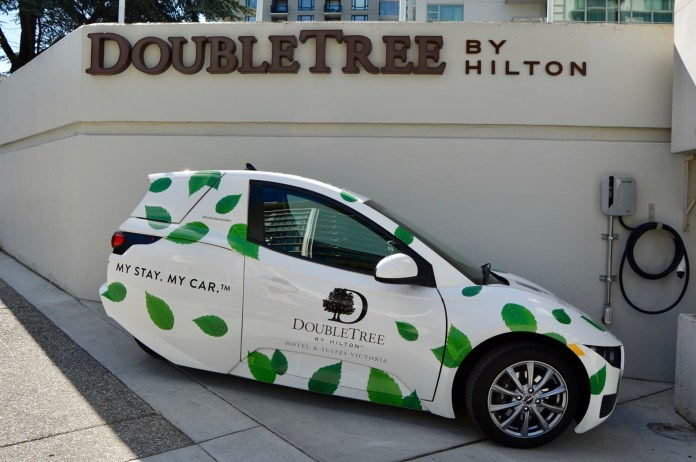 electric car package at the doubletree | tourism victoria