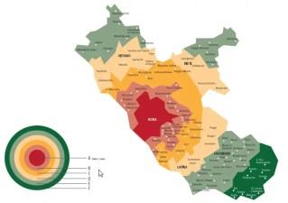 Regional map Metrebus Lazio