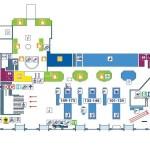 Fiumicino Abflughalle Terminal 1 Zeichnung