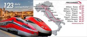 Rom Anreise Netz Frecciarossa