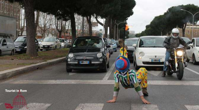 Courageous? By car in Rome