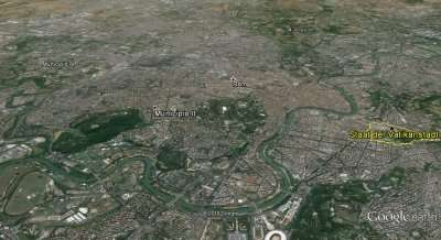 Ciampino Anflug über Rom Simulation