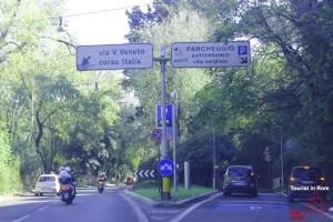 Einfahrt Parkplatz Villa Borghese