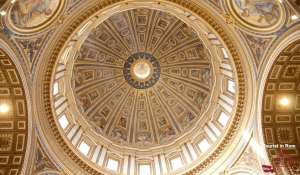 St. Peter's Entrance without queuing cupola inside