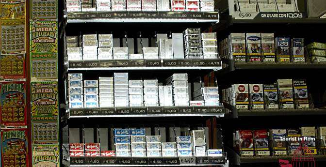 Cigarette prices in Italy · Where to buy cigarettes · Smoking bans