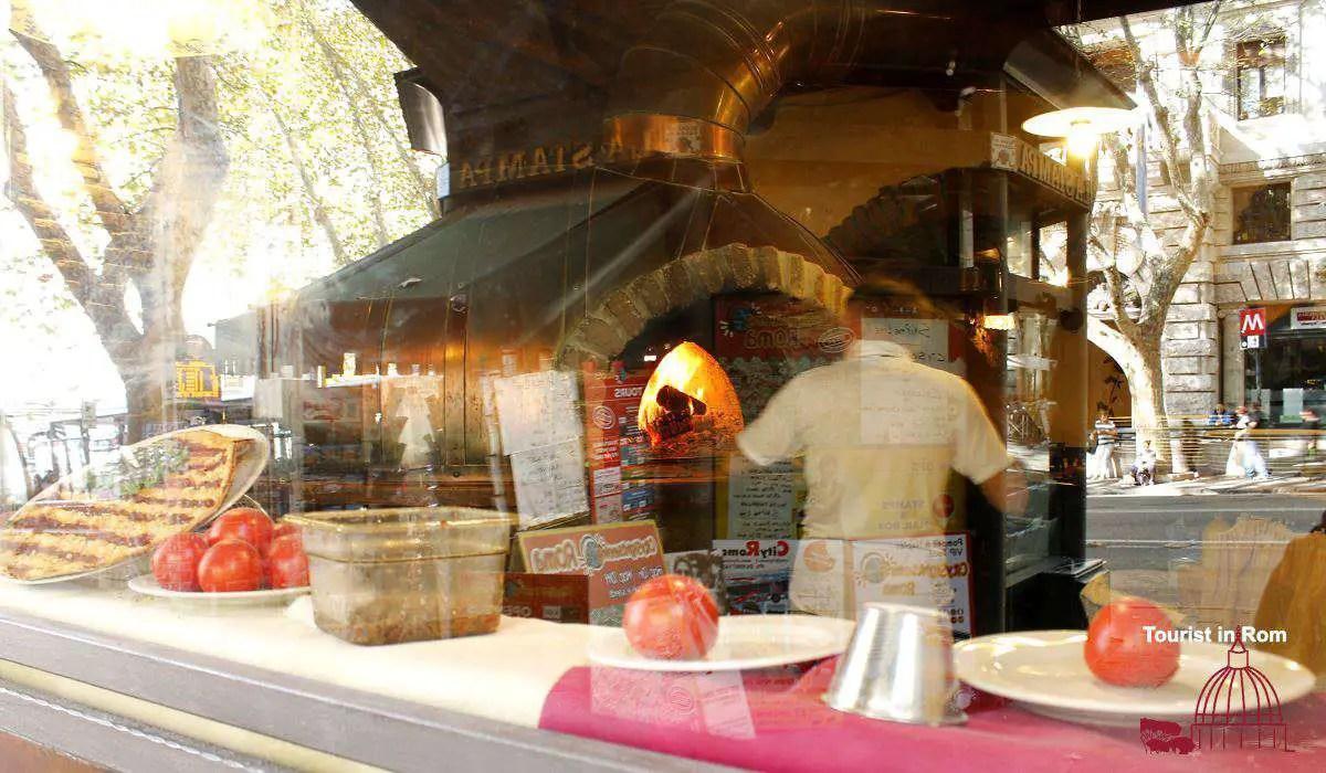 Essen in Rom Pizza