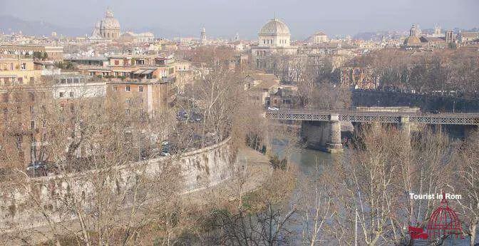 Rom Winter Blick vom Orangengarten Rome winter view from the giardino degli aranci