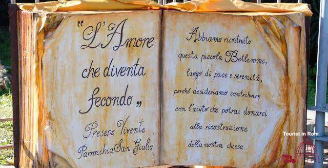 Die lebende Krippe in Rom · Historische Szenerie