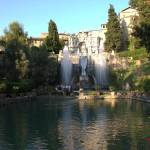 Hitze in Rom Wasserspiele in Villa D'Este