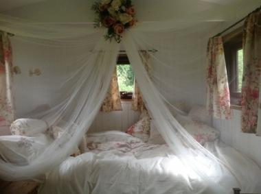 River hut bedroom