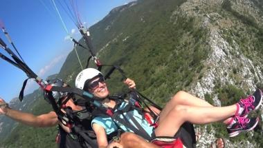 Paragliding in Montenegro excellent tandem glight