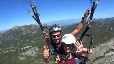Paragliding Montenegro excellent tandem flight