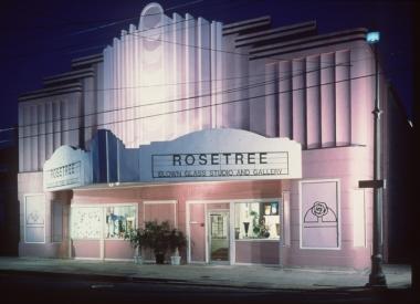 Rosetree Blown Glass Studio and Gallery, an award-winning repurposed art Deco movie theater