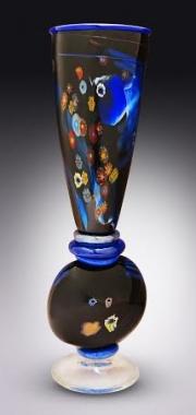"""Jazz improv"" blown glass sculptural vessel"
