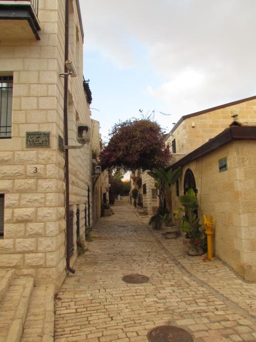 The quaint streets of Yemin Moshe