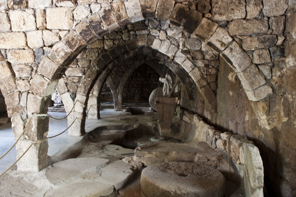 Banias - Ancient water-operated flour mill. Courtesy Boruch Len