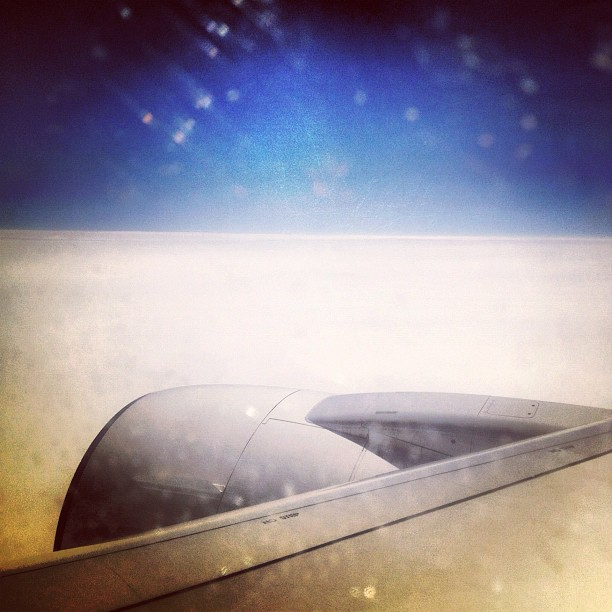 Flight to Israel, somewhere over Europe