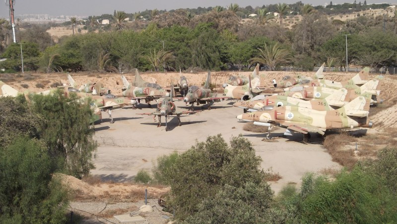 Iaf Museum - Old Israeli Fighters That Have Been Decommissioned