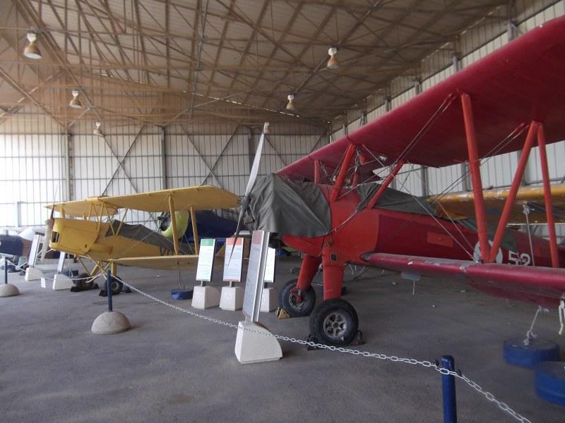 Israel Air Force Museum - Old Propeller Planes in a Hangar