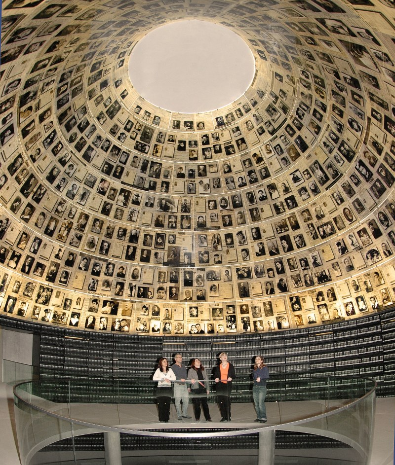 The Hall of Names at Yad Vashem