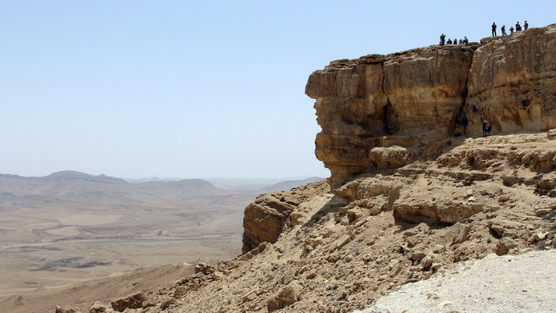 Abseiling (rappelling) At Mitzpe Ramon, Cliff Of The Ramon Crater1