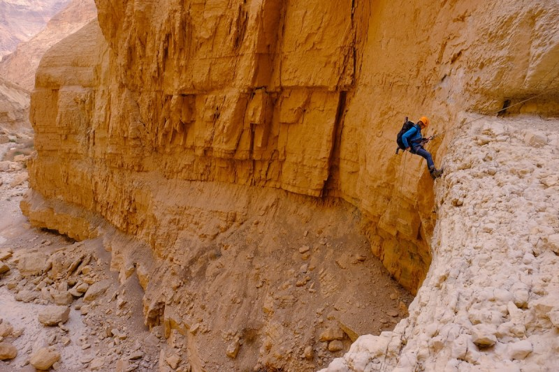Abseiling (rappelling) At Mitzpe Ramon, Cliff Of The Ramon Crater2