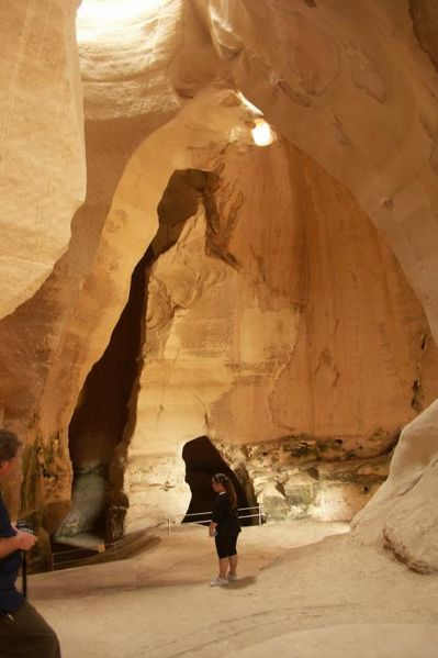A bell cave at Beit Guvrin. Image Amos Gil