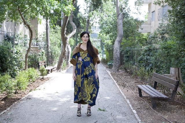 Threads Zureyia Shalev Modelling Clothes Designed By Alembik For Poet Else Lasker Schuler. Photographer Tamar Karavan