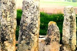 The stones at Tel Gezer. Image credit Laura Arenson