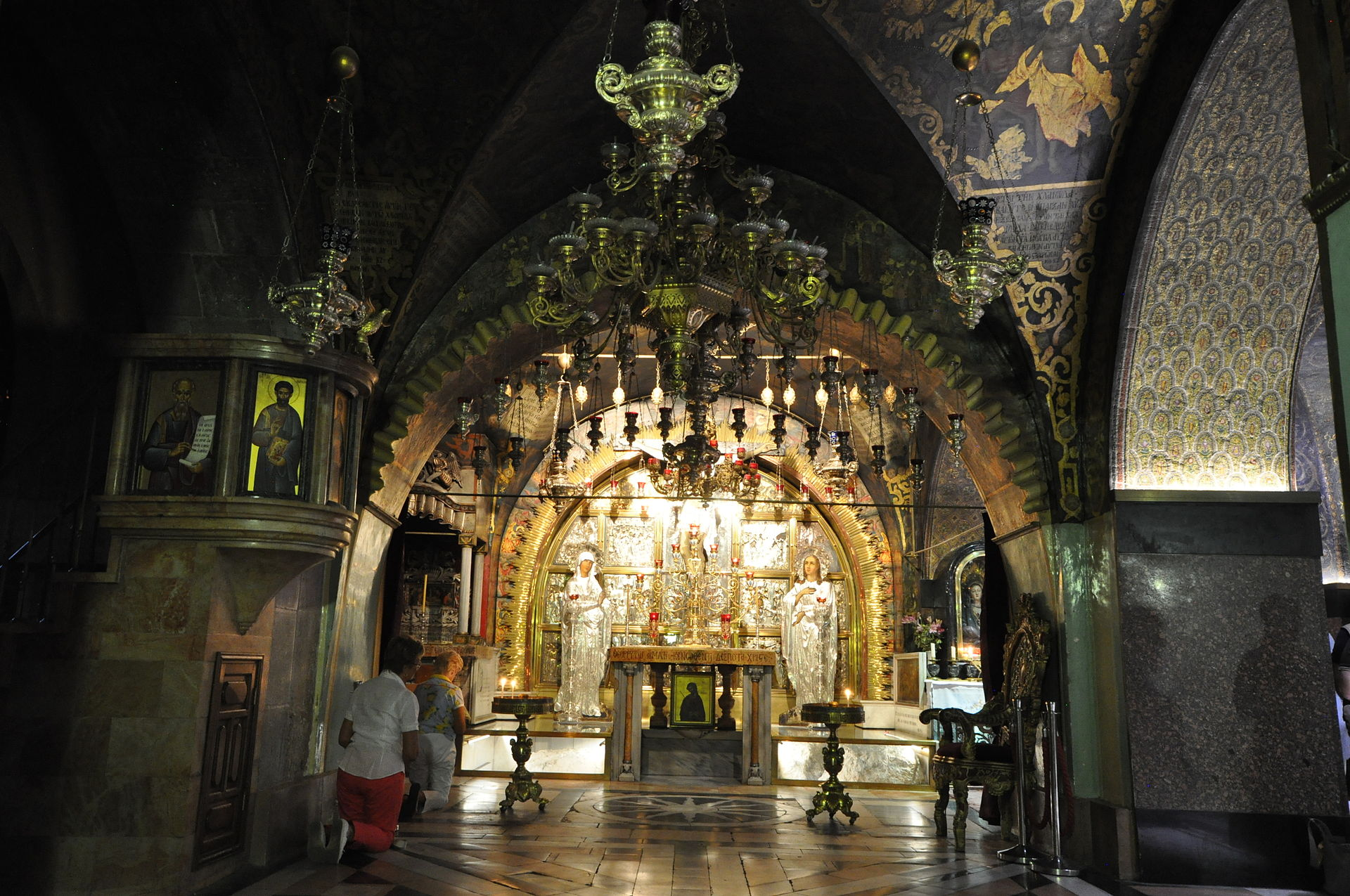 The Crucifixion Altar Church of the Holy Sepulchre